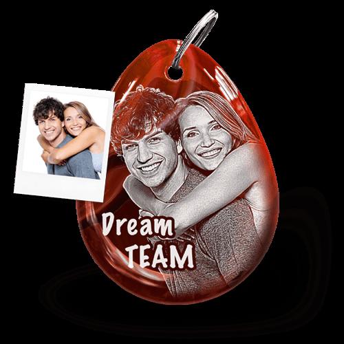 Weihnachtsgeschenk Schlüsselanhänger mit Fotogravur