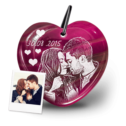 Romantischer Schlüsselanhänger mit Foto